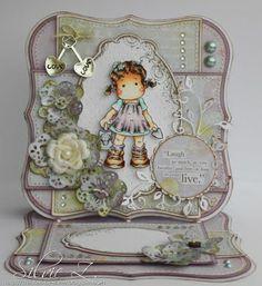 Bunny Zoe's Crafts: Watercan Tilda Easel card