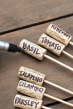Simple Wine Cork Garden Markers