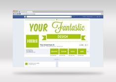 PSD Facebook cover & brand page mockup design template