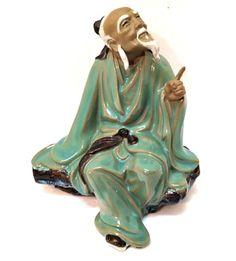 #Vintage Chinese #Figurine Old Wise Mud Man