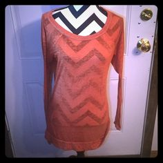 Large Decree Burnt Orange Tunic Large Decree Burnt Orange Tunic  Very light weight and see through, perfect as a coverup during summer time over your bikini or with a cute tank.  No wear or tear  Ships within 24 hours Bundles & offers Welcome Decree Tops Tunics