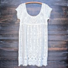 say you will crochet shift dress