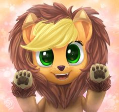 Applejack as a lion :) cute!