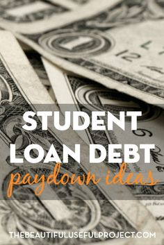 What are some ways to earn extra money and maximize the money you have to pay down student loan debt? Unique student loan debt paydown ideas.