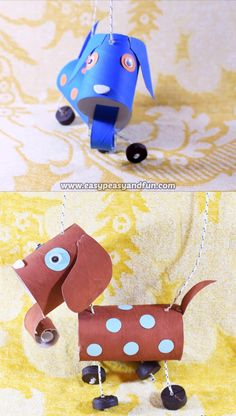 How To Make a Dog Marionette Puppet When it comes to crafts for kids, recycled crafts are best – if you make an usable recycled craft, well that's even better. This tutorial will show you How To Make a Dog Marionette Puppet, a lovely recycled project that Recycled Crafts Kids, Paper Crafts For Kids, Crafts For Kids To Make, Paper Crafting, Easy Crafts, Art For Kids, Diy And Crafts, Kids Diy, Decor Crafts