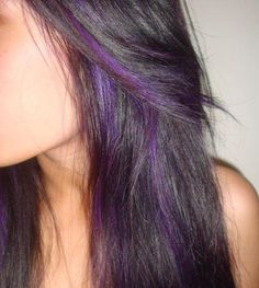 short wavey hair with purple highlights - Google Search