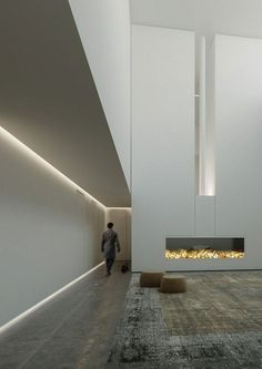 love the angles balance lighting pared down colour palette clean