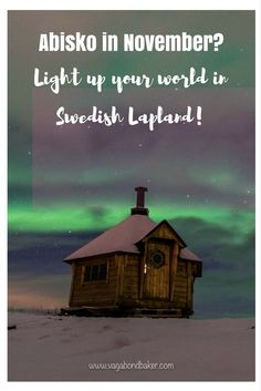 Abisko in November? Yes, crazy aurora and enough snow for a winter wonderland adventure // Swedish Lapland // Northern lights Northern Lights Hotel, Lapland Northern Lights, Christmas Travel, Holiday Travel, Sweden Destinations, Cool Places To Visit, Places To Go, Aurora, Visit Sweden