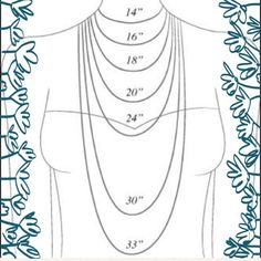 Necklace length guide This is brilliant! We have some smart poshers out there! Thanks @lequalstyle I stole this from your closet! Hope you don't mine! Jewelry Necklaces