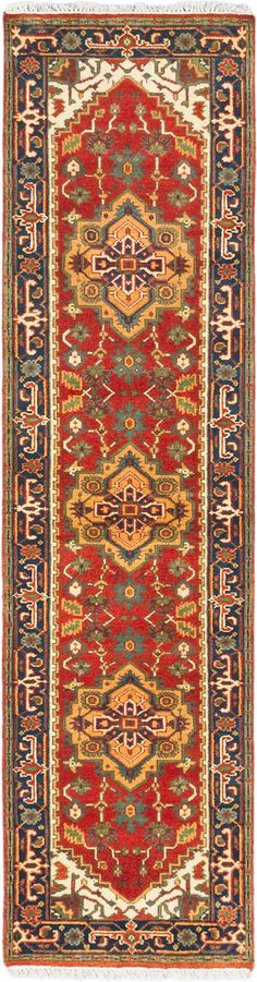 Hand-knotted Carpet x Serapi Heritage Traditional Wool Rug Magic Carpet, Small Rugs, Hand Knotted Rugs, Persian Rug, Wool Rug, Bohemian Rug, Area Rugs, Antiques, Runners