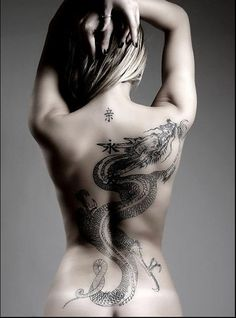 Dragon tattoos- love a dragon tattoo on a female.