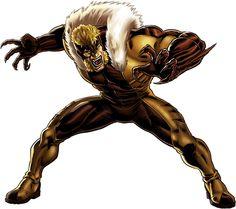 Sabretooth character model from Marvel: Avengers Alliance Marvel Avengers Alliance, Hq Marvel, Marvel Dc Comics, Marvel Heroes, Marvel Cinematic, Marvel Wolverine, Superhero Villains, Marvel Villains, Suits