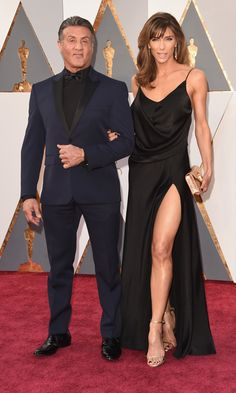Sylvester Stallone and wife Jennifer.