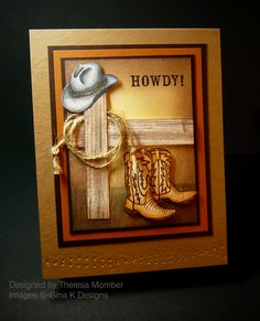 Crafting The Web: Masculine Cards ~ Love the lasso idea - use with my SU set for the little boys cards