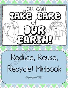 Earth Day Mini-book You Can Take Care of the Earth Earth Science Activities, Science Education, Teaching Science, Teaching Kids, Science Resources, Prek Literacy, Kindergarten Units, Early Literacy, Earth Day Coloring Pages