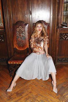 PRIMA BALLERINA #riskmadeinwarsaw #greyskirt #midi #partytime #partylook #fashion #evening #totallook #outfit