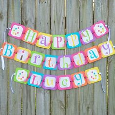 """The perfect birthday banner for your little artist's party. It is a mixture of bright rainbow colors, silver glitter paper and pink tulle with playful lettering. Options: - """"Happy Birthday"""" only - """"Ha"""