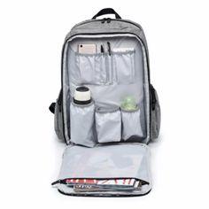อย่าช้า  Dad Bag Super Large Capacity Diaper Backpack (48 x 32 x 18cm) -intl  ราคาเพียง  1,269 บาท  เท่านั้น คุณสมบัติ มีดังนี้ Outer Material:DTY400D oxford Lining Material:Polyester& Dimensions:32*18*48cm Weight:0.89kg Capacity:22L Available Colors:Grey,Black,Red,Purple Suitable for both fashion mom and dad It is not just a diaper bag,it can also be a leisure bag,travellingbag or Laptop bag.