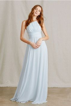 8e7f10ac596 Vintage A-line Halter Chiffon Long Bridesmaid Dresses. Amsale BridesmaidBridesmaid  Dress ColorsBlue ...
