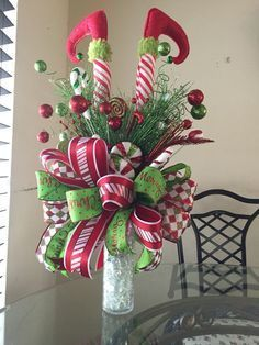 Elf legs christmas tree topper, Elf themed Christmas decorations