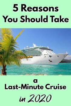 Last minute cruises can be incredible, value-packed vacations! These 5 reasons you should take a last minute cruise will help give you the push you need! Vacation Deals, Cruise Vacation, Vacation Trips, Vacations, Cruise Travel, Travel Deals, Packing List For Cruise, Cruise Tips, Cruise Destinations