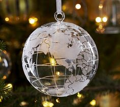 glass globe ornament