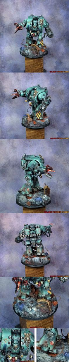 40k - Sons of Horus Leviathan Dreadnought by Salaisefigurine