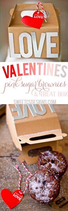 Pink Sugar Valentines Brownies and Treat Box! #yearofcelebrations