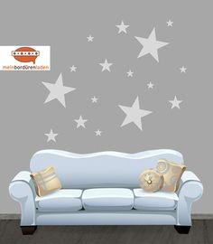 """Wandtattoo - Wandtattoo-Set: """"Sterne"""" - ein Designerstück von meinBorduerenladen bei DaWanda"""