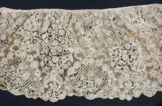 Fragment of an Alb Flounce Belgium, Brussels, Linen bobbin lace 38 x 13 in. x cm) French Linens, Linens And Lace, Bobbin Lace, Historical Clothing, Brussels, 18th Century, Belgium, Lace Shorts, Ornament