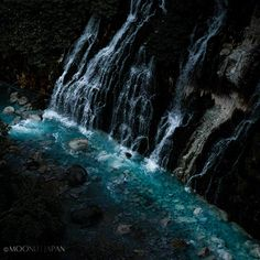 DOWN INTO BLUE - Shirahige Falls, Biei, Hokkaido, Japan   北海道上川郡美瑛町 白髭の滝