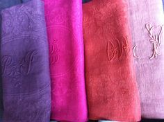 Vintage linen napkins.  Color impact.