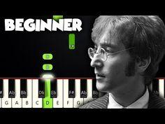 Piano Music Easy, Piano Sheet Music, Custom Acoustic Guitars, Imagine John Lennon, Piano Tutorial, Music Lessons, Keyboard, Notes, Play