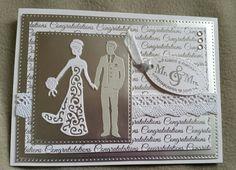 Silver &Wiite Wedding Day Card