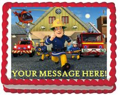 Fireman Sam Rescue Edible Cake Topper Image Birthday or Party. $6.95, via Etsy.
