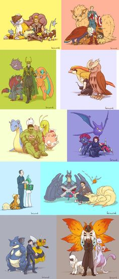 Avengers and Pokemon