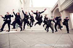 I love it when the groomsmen have fun.