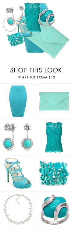 """""""SPRINGTIME BLUES"""" by debbie-l-garrison on Polyvore featuring WearAll, Tiffany & Co., Bling Jewelry, Dolce&Gabbana, GUESS, Chico's, Carolee and Glitzy Rocks"""