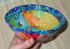 Fun fabric bowls.   This will be great for Mother's Day.