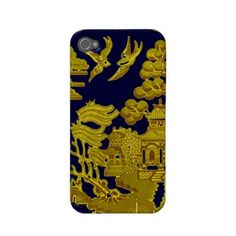 Willow pattern - Gold Iphone 4 Case by In_case