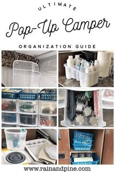 Organizing a Pop-Up Camper {Pop-Up Camping} Plus organization tips and pop up ca. Organisieren eines Pop-Up-Camper {Pop-Up-Camping} Plus Zelt Camping Organisation, Camping Storage, Tent Camping, Food Storage, Organization Ideas, Storage Ideas, Outdoor Camping, Camping Lanterns, Backpacking Tent