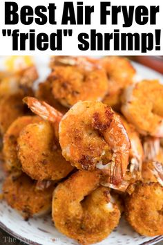 Crispy Deep Fryer Fried Shrimp – This air-fried shrimp recipe is incredible! With a light breading and tons of aroma – Crispy Deep Fryer Fried Shrimp – This air-fried shrimp recipe is incredible! With a light breading and tons of aroma – Air Fryer Fried Shrimp Recipe, Fried Shrimp Recipes, Air Fried Food, Seafood Recipes, Cooking Recipes, Healthy Recipes, Air Fryer Recipes For Shrimp, Easy Recipes, Snacks Recipes