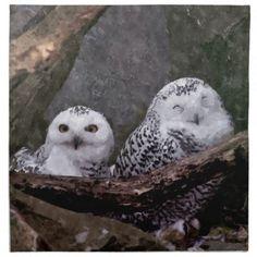 #Cute #Owls Printed #Napkin #owl