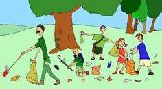 dibujos de niños recogiendo basura - Cerca amb Google