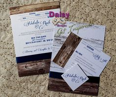 Our Rustic Barnboard Wedding Invitation set is perfect for any country wedding. It features barnboard images and a mix of contemporary and Olde West fonts.