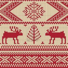 Knitted swatch with deers and snowflakes pattern photo Knitting Charts, Hand Knitting, Knitting Patterns, Knitting Designs, Knitting Projects, Craft Projects, Folklore, Fair Isle Chart, Knit Art