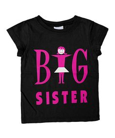 This Black 'Big Sister' Tee - Toddler  Girls is perfect! #zulilyfinds