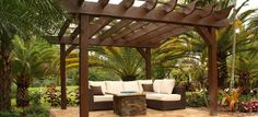 Pergola with outdoor living room and fire pit. | Favorite Places & Sp ...