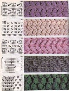 szalony szydełka dziania If you can read international crochet charts, you can add these warm textured stitches to your crochet repertoire. Free Crochet Stitches from Daisy Farm Crafts This Pin was discovered by Мар Image gallery – Page 786300416169 Crochet Symbols, Crochet Motifs, Crochet Stitches Patterns, Crochet Diagram, Crochet Chart, Knitting Stitches, Stitch Patterns, Knitting Patterns, Knitting Charts