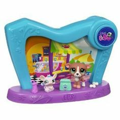 Littlest Pet Shop 2-in-1 Pet Spotlight by Hasbro Toys. $10.85. REVERSIBLE BACKDROP FOR DIFFERENT SCENES. PETS 1585  1586. DOME REALLY LIGHTS UP-BATTERIES INCLUDED. LITTLEST PET SHOP 2-IN-1 PET SPOTLIGHT.PETS N0. 1585 AND 1586,PUPPY AND MOUSE